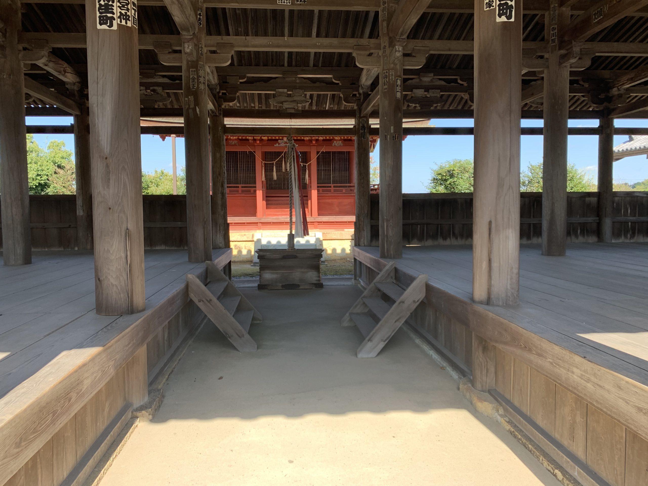 八幡神社本殿が見える!